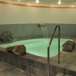 Spa accommodates twelve persons